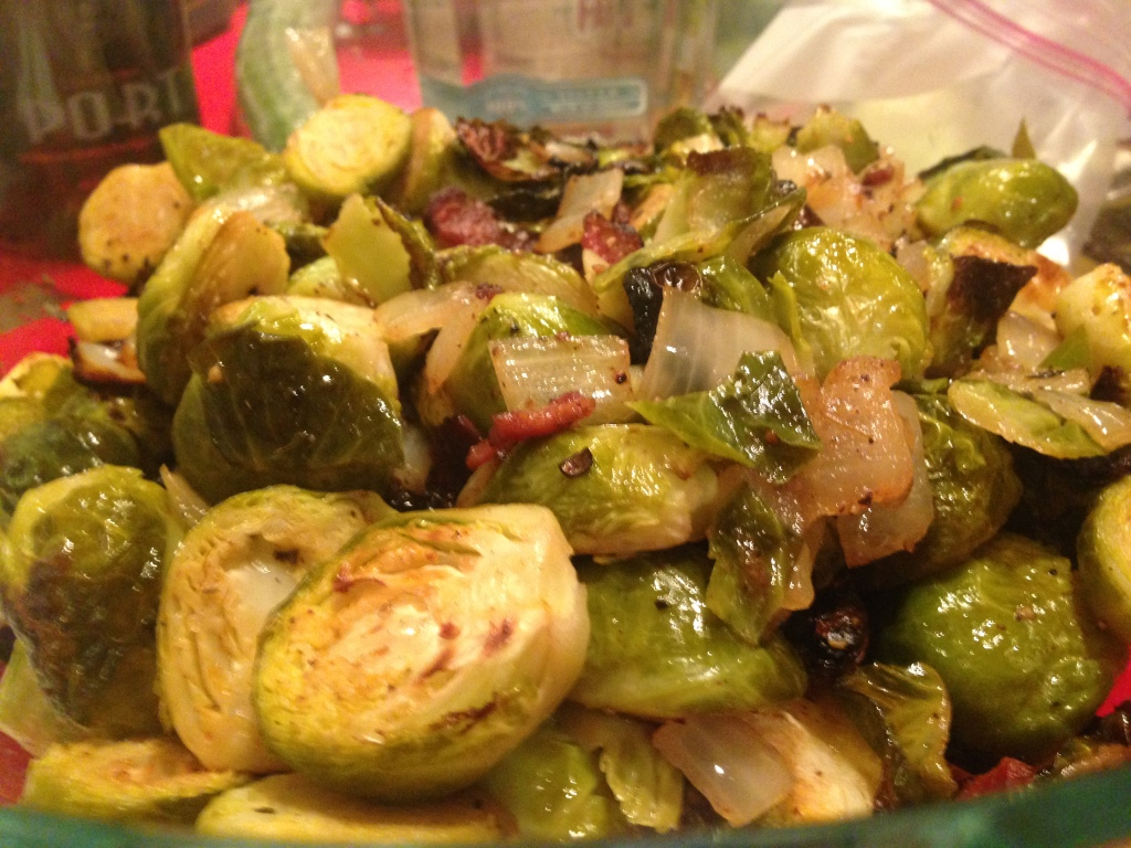 Matt's creation: do you want any brussel sprouts with your bacon?